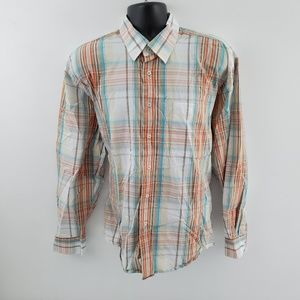 Alan Flusser button down shirt XL N14